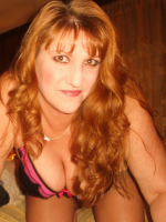 Lusty mature redhead