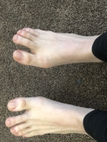 Fetish line. Sexy feet, ready to describe and show off